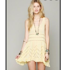 Free People Voile and Lace Trapeze Slip Dress.